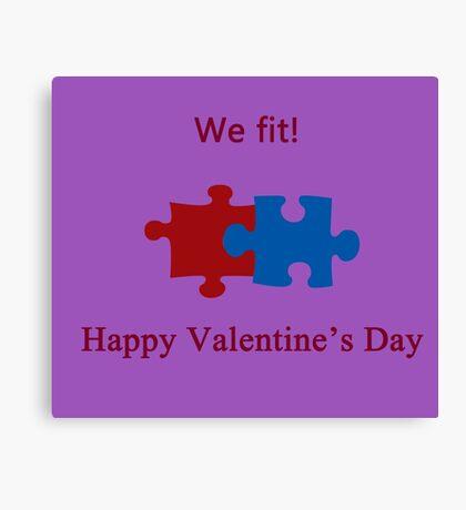 We Fit (Jigsaw Valentines) Canvas Print