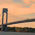 Verrazano Bridge, NYC  by Geri Bragg