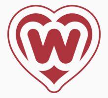 Heart W letter Baby Tee