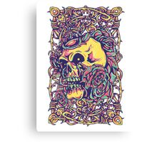 Wired Skull Canvas Print