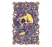 Wired Skull Photographic Print