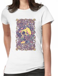 Wired Skull Womens Fitted T-Shirt