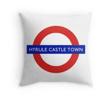 London Underground - Hyrule Castle Town (Zelda) Throw Pillow