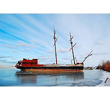 Abandoned ship Photographic Print