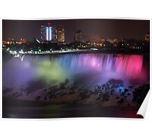 Night scene of Niagara Falls Poster