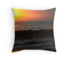 Wave Break Throw Pillow