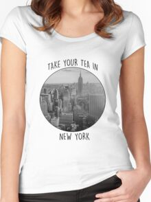 New York! Women's Fitted Scoop T-Shirt