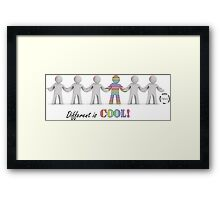 Different is Cool! Framed Print