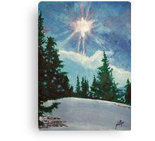 A Snow Scene Canvas Print
