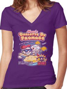 Omelette Du Fromage Women's Fitted V-Neck T-Shirt