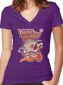 Pork butts and taters Women's Fitted V-Neck T-Shirt