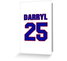 National Hockey player Darryl Sly jersey 25 Greeting Card