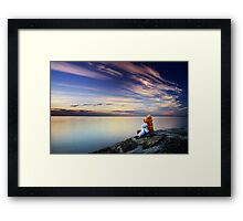 U & Me against the world Framed Print