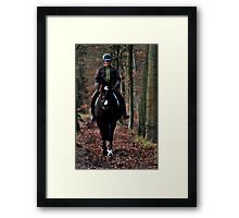 Going on a January morning ride Framed Print