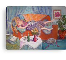 Young Woman Resting Canvas Print