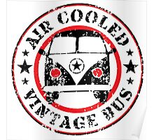 Air Cooled VW Bus Poster
