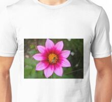 Flower and Bee  Unisex T-Shirt