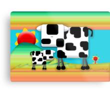 Moo Cow Sunrise Family Metal Print