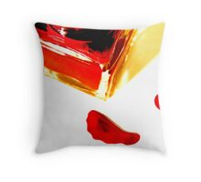 Cherry Red Nail Lacquer, v.4, Edit B Throw Pillow