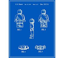 Lego Man Patent - Blueprint (v2) Photographic Print