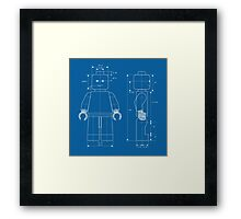 Everything is Awesome - Lego Blueprint Framed Print