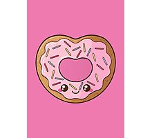 Heart Donut Photographic Print