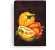 Shelley's Bell Peppers Canvas Print