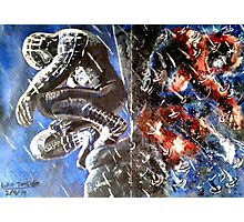 Spider-man Black and Red Photographic Print