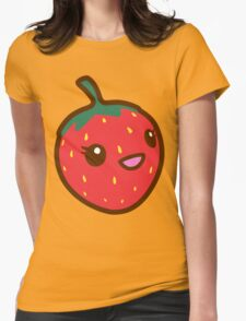 Kawaii Strawberry Womens Fitted T-Shirt