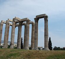 Ares Temple - Athens by Laura Jane Coelho