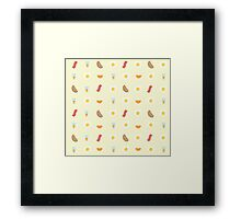 Morning Breakfast Pattern Framed Print