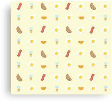 Morning Breakfast Pattern Canvas Print