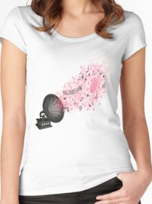 Retro Music... version 2! Women's Fitted Scoop T-Shirt
