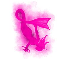Breast Cancer Awareness Mermaid Photographic Print