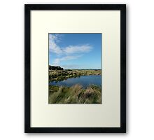 Landscape with Clouds and Cows Framed Print