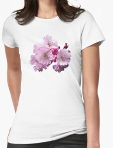 Closeup of Cherry Blossoms Womens Fitted T-Shirt