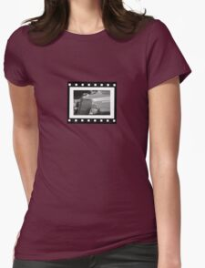 Vintage Film Strip Womens Fitted T-Shirt