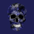 Blue Washed Skull by TinaGraphics