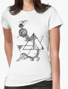 Time and space (black design) Womens Fitted T-Shirt