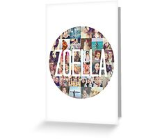 Zoella / Zoe Sugg Circle Collage Greeting Card