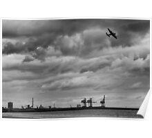 Lancaster Bomber Flypass,Port Talbot Poster