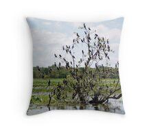 Mangrove Tree Birds Throw Pillow