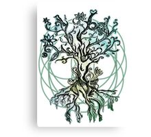 Coloured psychedelic tree Canvas Print