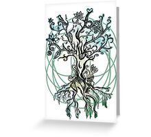 Coloured psychedelic tree Greeting Card
