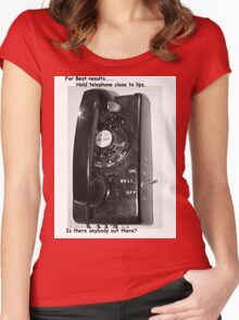 land line Women's Fitted Scoop T-Shirt