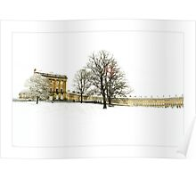 The Royal Crescent in the snow. Poster