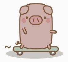 Skateboard Piggy Kids Tee