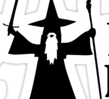 Gandalf Black You Shall Not Pass LOTR Lord Of The Rings Sticker