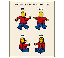 Lego Man Patent - Colour (v3) Photographic Print