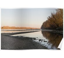 Danube Landscape at Sunset Poster